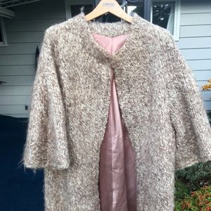 Vintage satin and wool coat